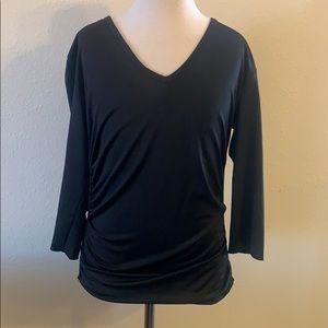 5/$25 The Limited Black VNeck Ruched Blouse